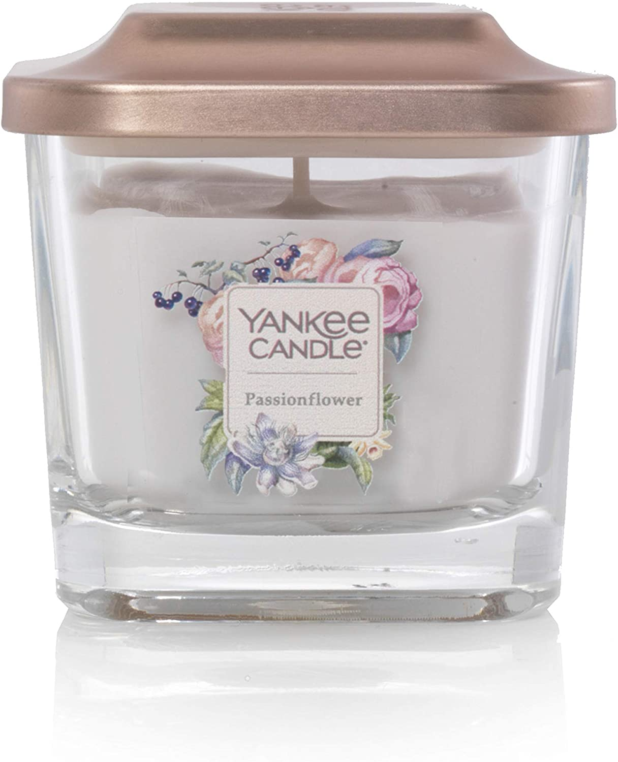Yankee Candle Elevation Collection with Platform Lid Passionflower Scented Candle, Small 1-Wick, 28 Hour Burn Time