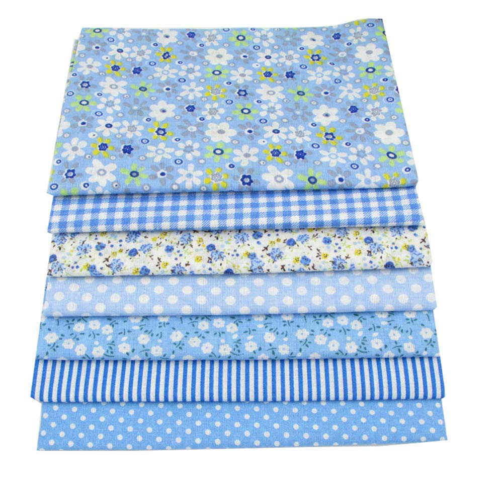 56pcs/lot 9.8'' x 9.8'' (25cm x 25cm) No Repeat Design Printed Floral Cotton Fabric for Patchwork, Sewing Tissue to Patchwork,Quilting Squares Bundles by BYY (Image #3)