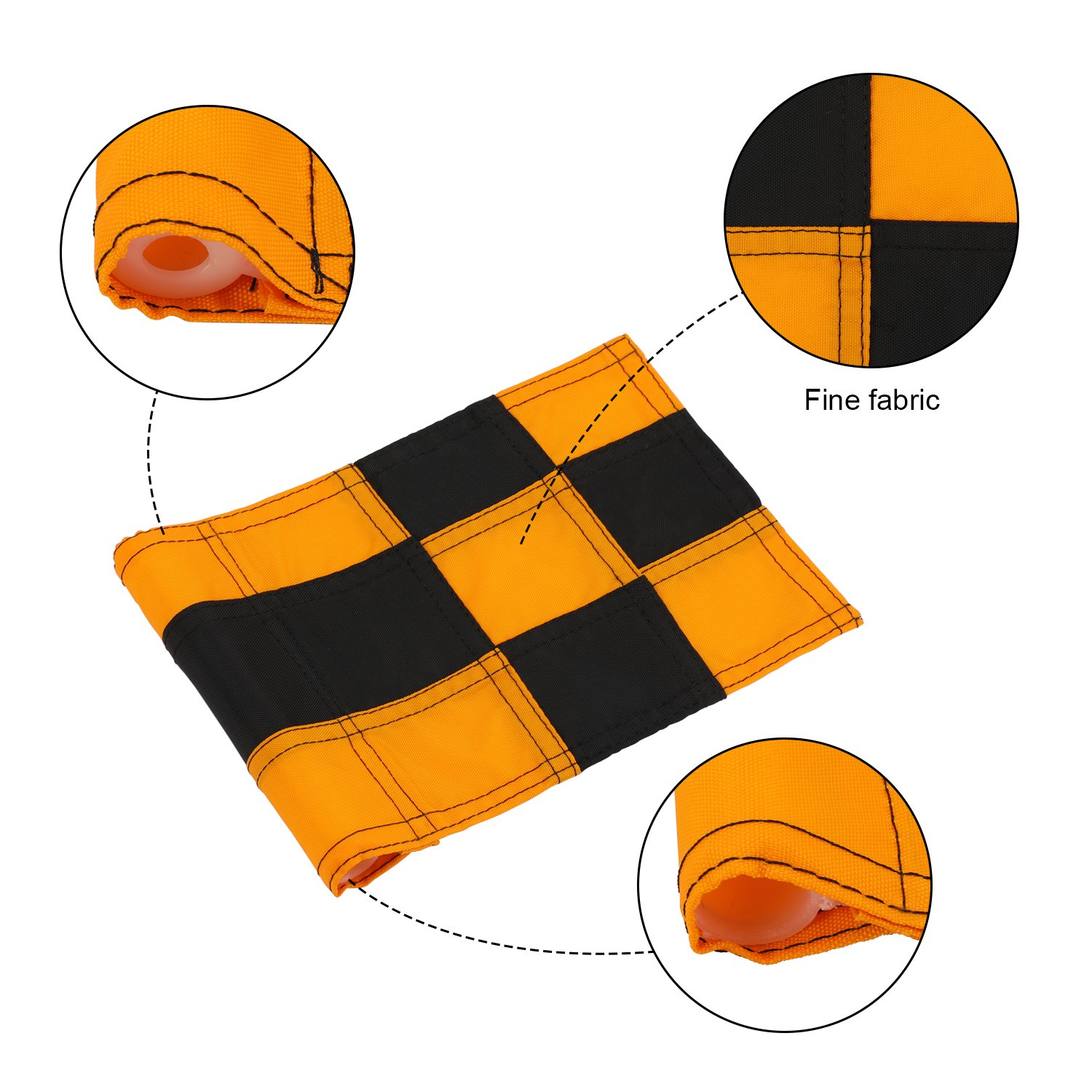 KONDAY Golf Flag,Practice Green Golf Flags, Solid Nylon and Checkered Traning Golf Putting Green Flags, Indoor Outdoor Backyard Garden Portable Golf Target flags by KONDAY (Image #5)