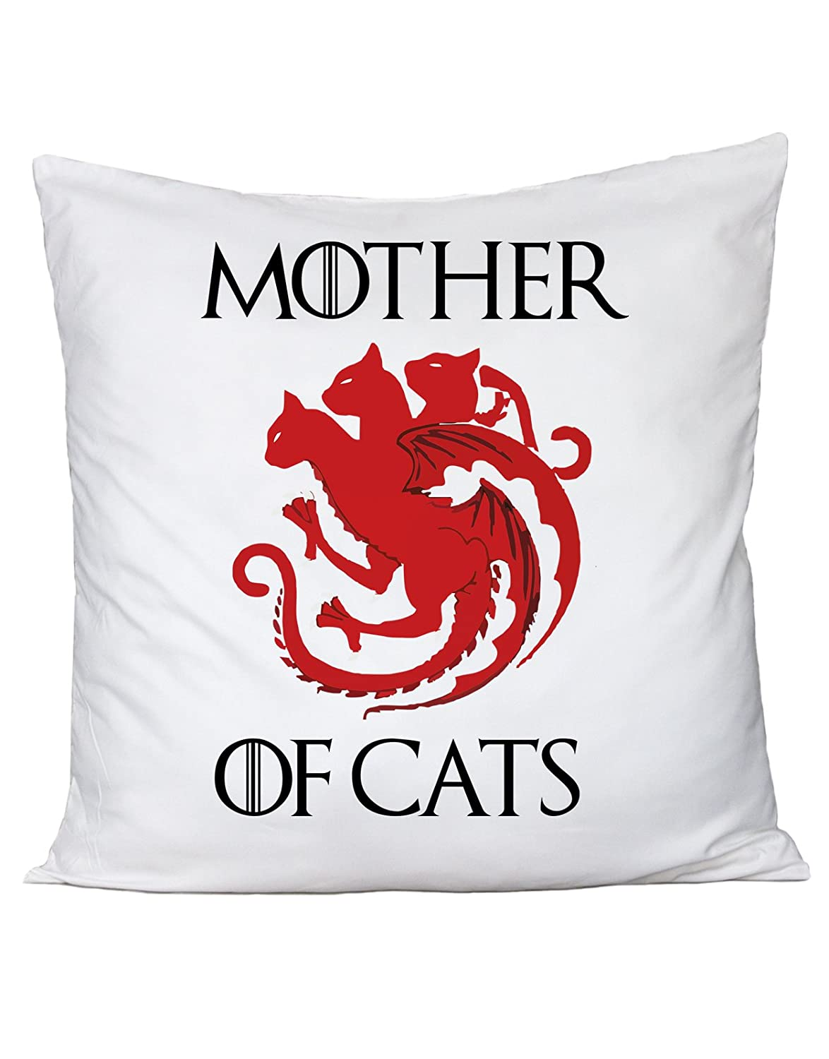bubbleshirt Cuscino Mother of Cats - Humor - Game of Thrones - Il Trono di Spade - Serie TV