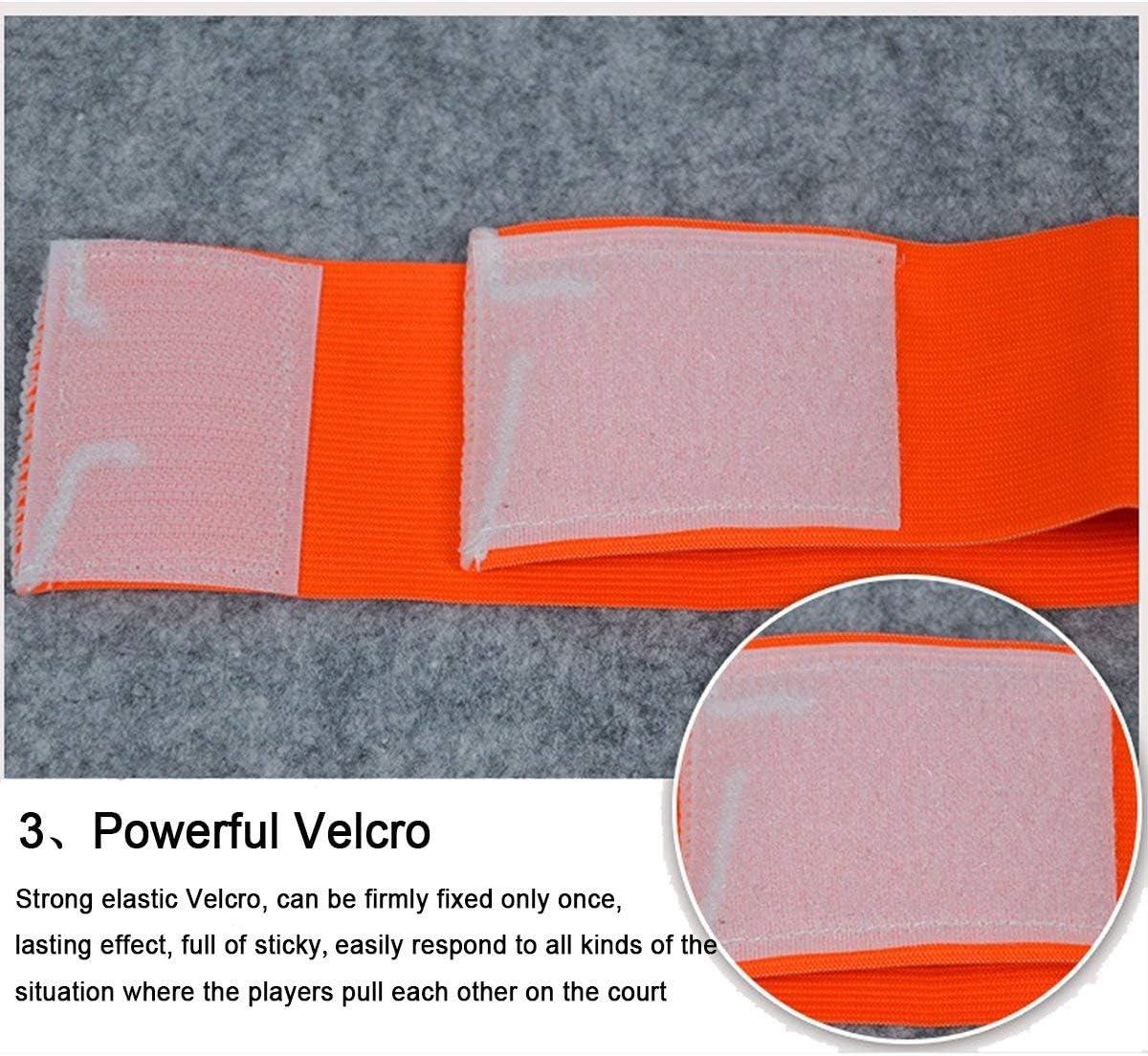 F/útbol C Est/ándar el/ástico Brazalete para ni/ños Adecuado para Muchos Tipos de Deportes el/ásticos brazaletes Velcro retr/áctil ASEOK F/útbol capit/án del brazal