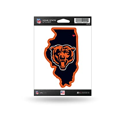 Amazon.com   Rico Industries NFL Chicago Bears Home State Sticker ... 3a4843c58