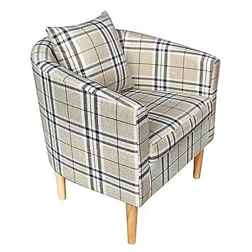 Songtree - (58x45x70cm) Butaca Moderna Sillón Relax Tela Estampado para Sala Oficina Dormitorio Comedor Cocina