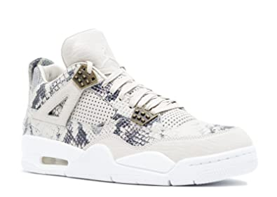 new styles 49f81 73f44 NIKE Mens Jordan 4 Retro Premium Snakeskin Light Brown Pure Platinum  Leather Size 9.5