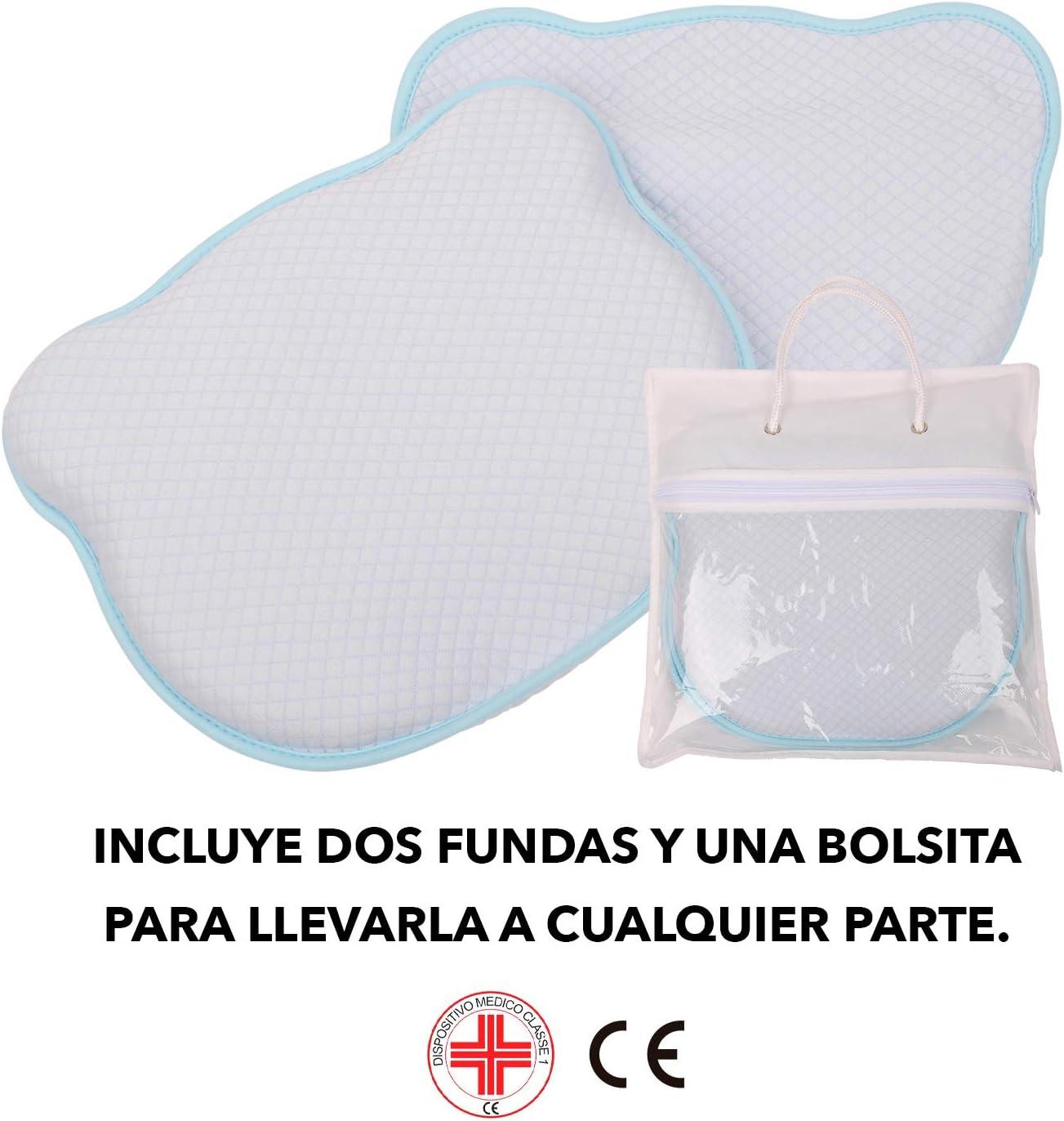 Coussin pour berceau avec deux housses et sac inclus lavable Maverick Oreiller pour b/éb/é pr/évient la plagioc/éphalie 100 /% coton Oreiller pour berceau ou chariot anti-/ètouffement