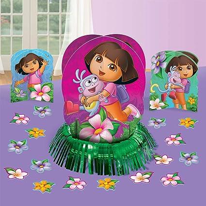 Amazoncom Colorful Doras Flower Adventure Birthday Party Table