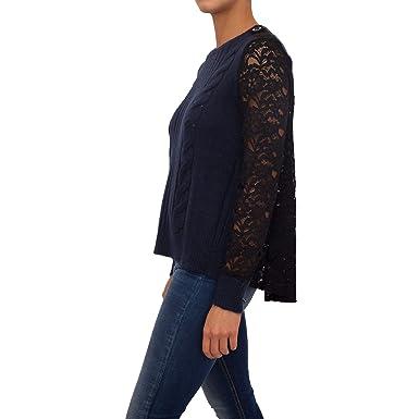 reputable site 6edb9 82d0f Liu Jo Jeans - Pull - Femme Bleu Bleu: Amazon.fr: Vêtements ...
