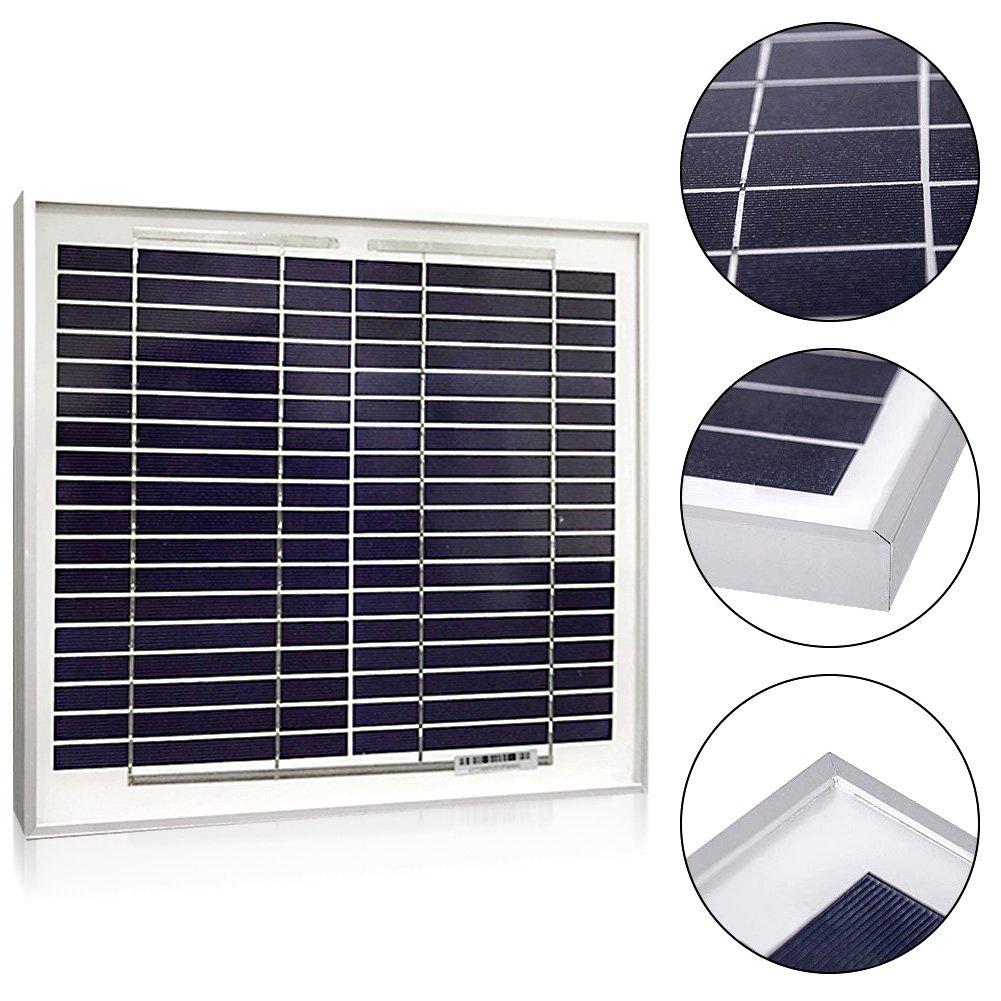 Solar Panel 20 Watt Powereco Polycrystalline 20W Solar Charger for 12V Battery Charging Fennel