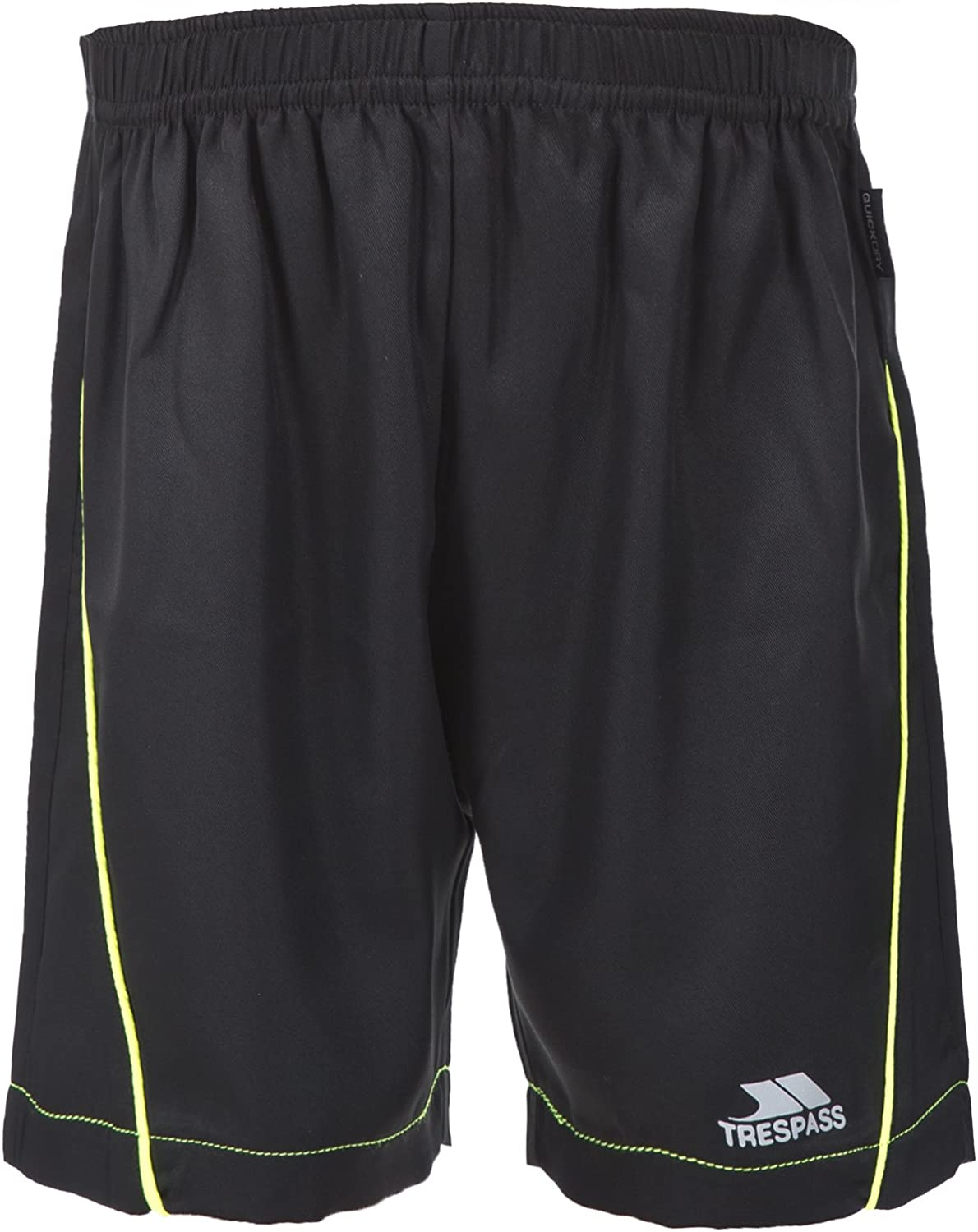 Trespass Bandit Boys Active Black Summer Football Gym Sports Shorts