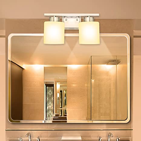 Oanon 48Light Vanity Lights Wall Sconces Bathroom Lighting Wall Interesting Bathroom Light Sconces
