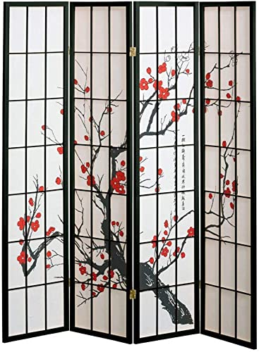 Asian Home Double Sided Canvas Screen Room Divider – Love