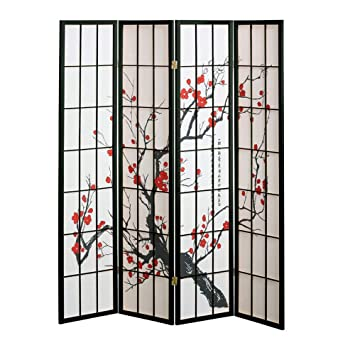 Amazoncom Panel Cherry Blossom Design Room Divider PANEL - 4 panel room divider