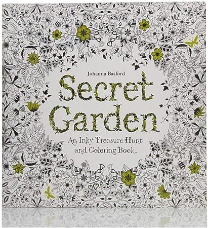 PiniceCore 24 Páginas aliviar el estrés para la Pintura de los Hijos Adultos Dibujo Libro del jardín Secreto Matar el Tiempo Coloring Book: Amazon.es: Hogar