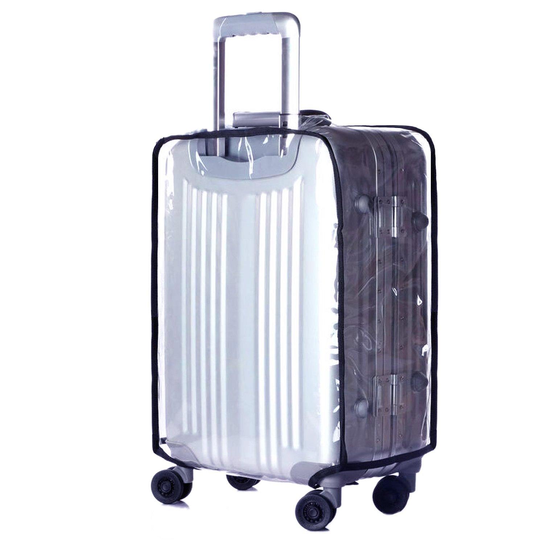 Transparent PVC 35cm L x 23cm W x 53cm H CSTOM Couvertures de Voyage Housse Protection de Valise 20 Bags