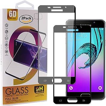 Guran [2 Paquete Protector de Pantalla para Samsung Galaxy A3 2016 A310 Smartphone Cobertura Completa Protección 9H Dureza Alta Definicion Vidrio Templado Película: Amazon.es: Electrónica