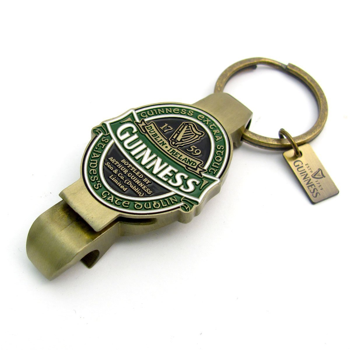 Bottle/Can Opener Keychain with St James Gate Design-Guinness Ireland Collection COMINHKPR94722