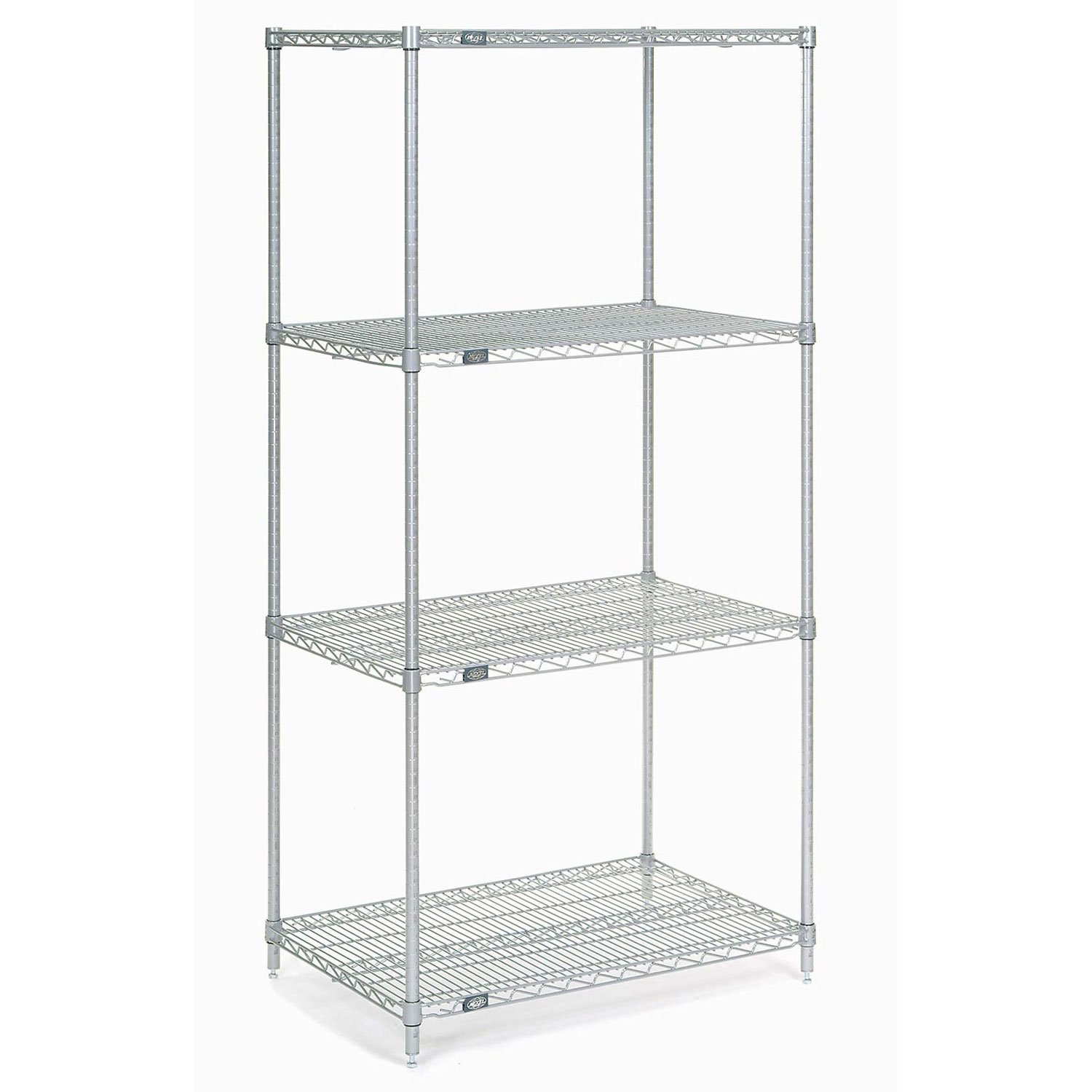 Chrome Wire Shelving, 36''W x 21''D x 86''H by Global Industrial