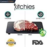 Kitchies Fast Defrosting Frozen Meat Food Tray, Cast Aluminum Fast Thaw Plate, Gourmet Food Grade, No Electricity
