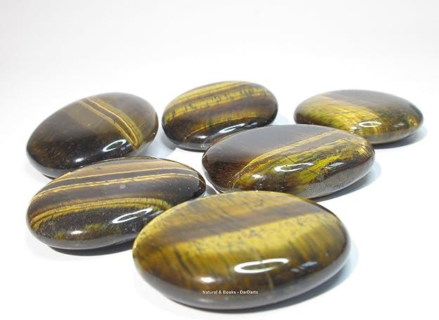 Natural /& Books : Pendentif /Œil de Tigre Protection Lithoth/érapie : Compr/éhension plat R/éalisme - pierre naturelle