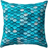 wintefei Shell Fish Scales Throw Pillow Case Home Decor Soft Cushion Cover 18inch?
