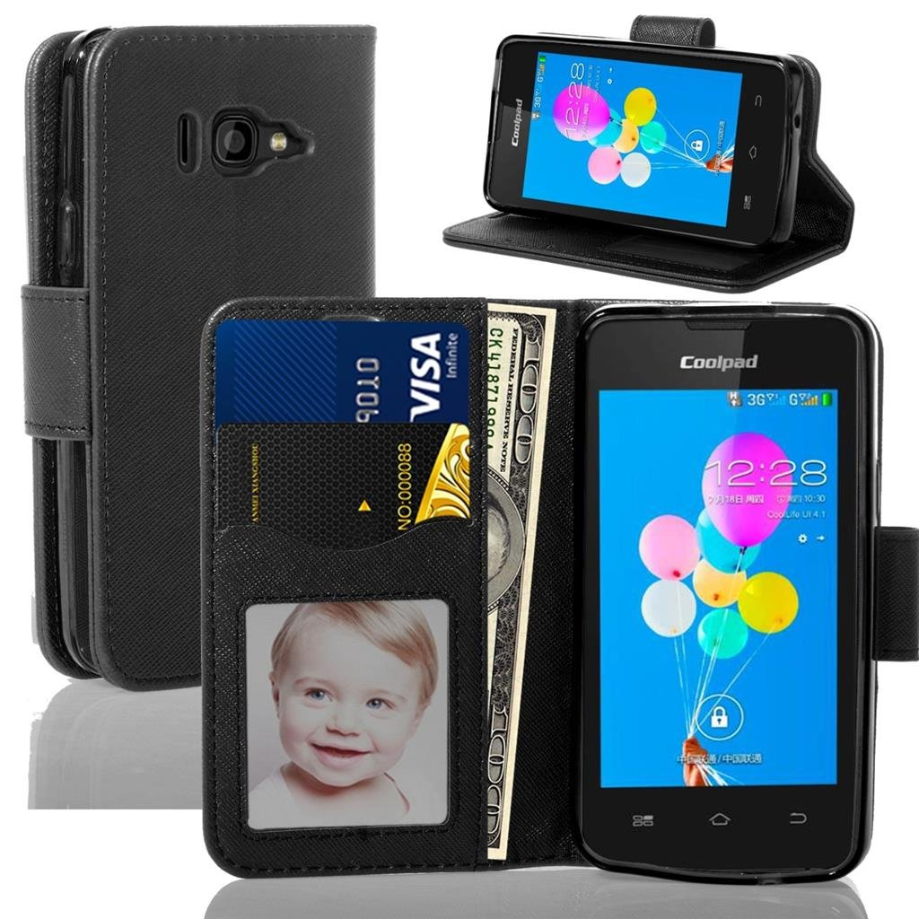 Amazon.com: Coolpad Arise *Obama Phone* 5560S {NFW} Wallet Case with Stand  Flip Case, Hand Band, Credit Card Slots + Screen Protector (Wallet Black):  Cell ...