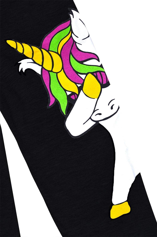 jolly rascals Girls Unicorn Leggings Kids New Dabbing Unicorn Black Grey Dance Party Pants Ages 2-13 Years