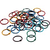 Hygloss Products Book Rings – 1 Inch Assorted Colored Steel Binder Rings, 50 Pack