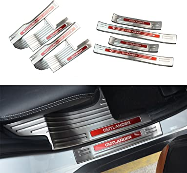 for BMW 2005-2008 3 Series E90 E91 320 325 330 335 Door Sill Protector Reflective 4D Carbon Fiber Sticker Door Entry Guard Door Sill Scuff Plate Stickers Auto Accessories 4PCS