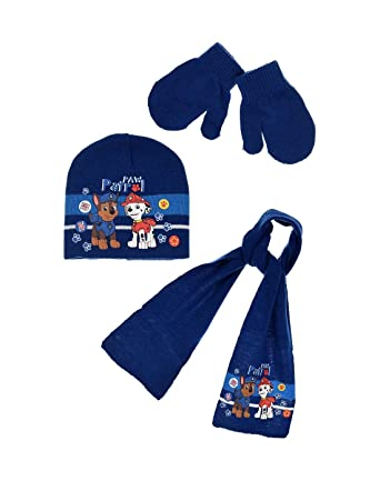 421f1b0e5eabd La Pat' Patrouille Echarpe, bonnet et moufles bébé/enfant garçon 3 coloris  de 9mois à 3ans: Amazon.fr: Vêtements et accessoires