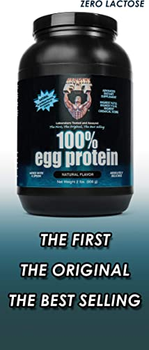 Healthy N Fit – 100 Egg Protein unsweetened Natural Flavor, 2Lbs, Great for Baking and Mixing, 100 Egg White Isolate