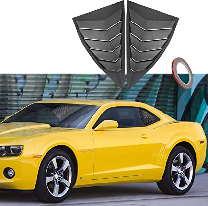 2-Piece Set for 2010-2018 Chevrolet Camaro Auto Ventshade 92341 Original Ventvisor Side Window Deflector Dark Smoke
