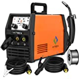 HITBOX 3 In 1 Mig Welder ARC Lift Tig Mig Gasless Dual Voltage 110V/220V 120A No Gas Flux Core Wire IGBT Multifunctional Weld