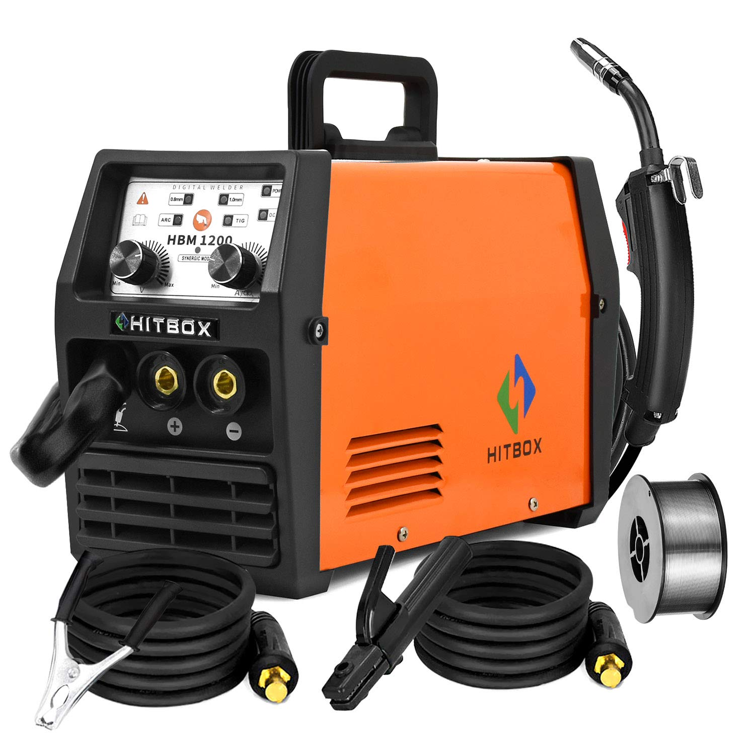 Hitbox Mig Welder Arc Lift Tig Mig Galess3 In 1 220v 120a No Gas Flux Core Wire Igbt Multi Function Welding Machine Model Hbm1200 Buy Online In Belarus At Belarus Desertcart Com Productid
