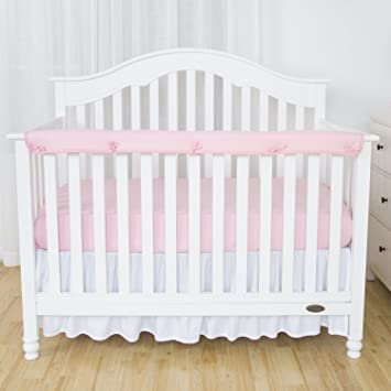 Amazon Com Tillyou 1 Pack Padded Baby Crib Rail Cover Protector