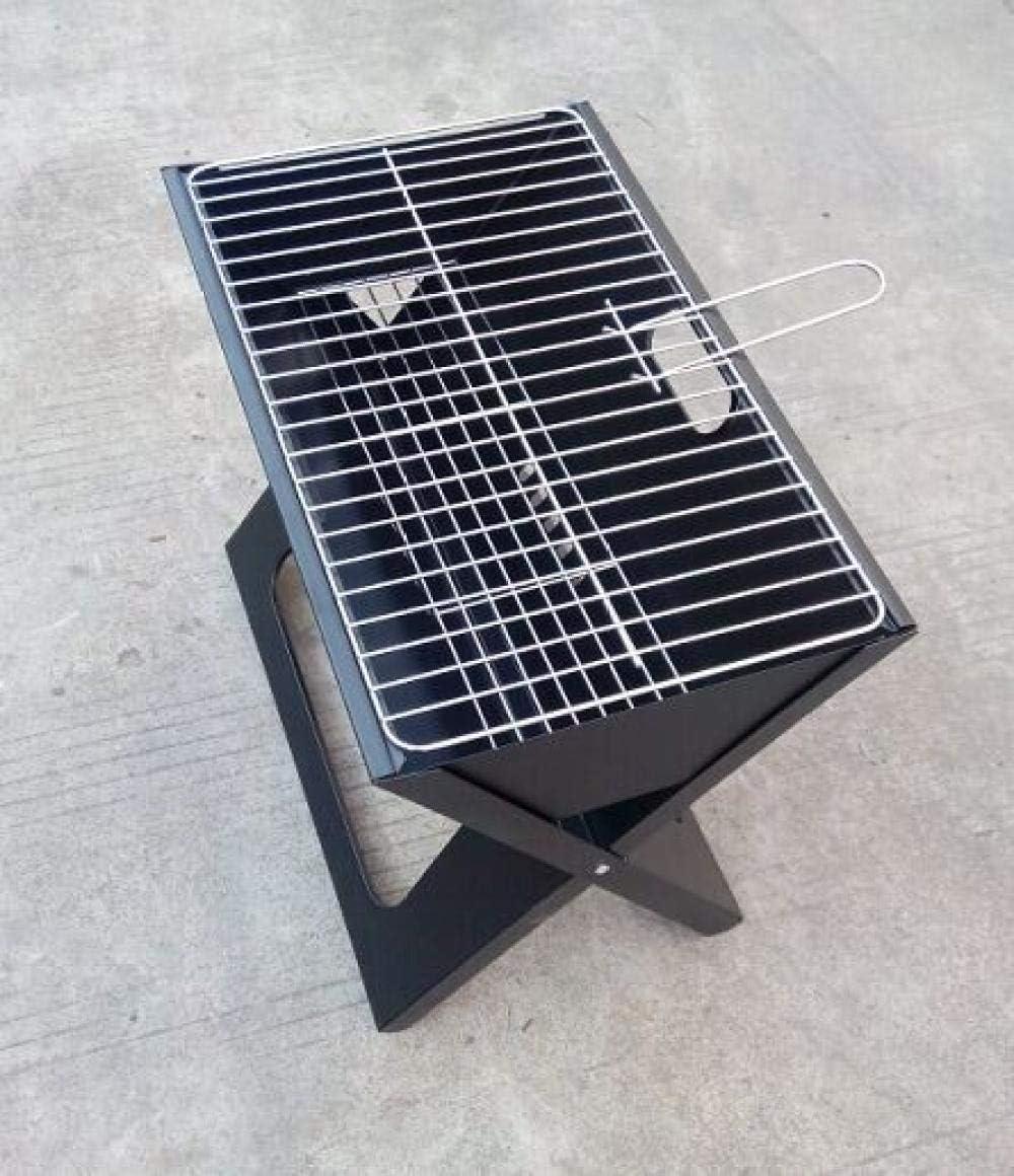 KEWEI - Soporte de Flores Ajustable para Barbacoa de carbón Compacto y móvil para Camping al Aire Libre