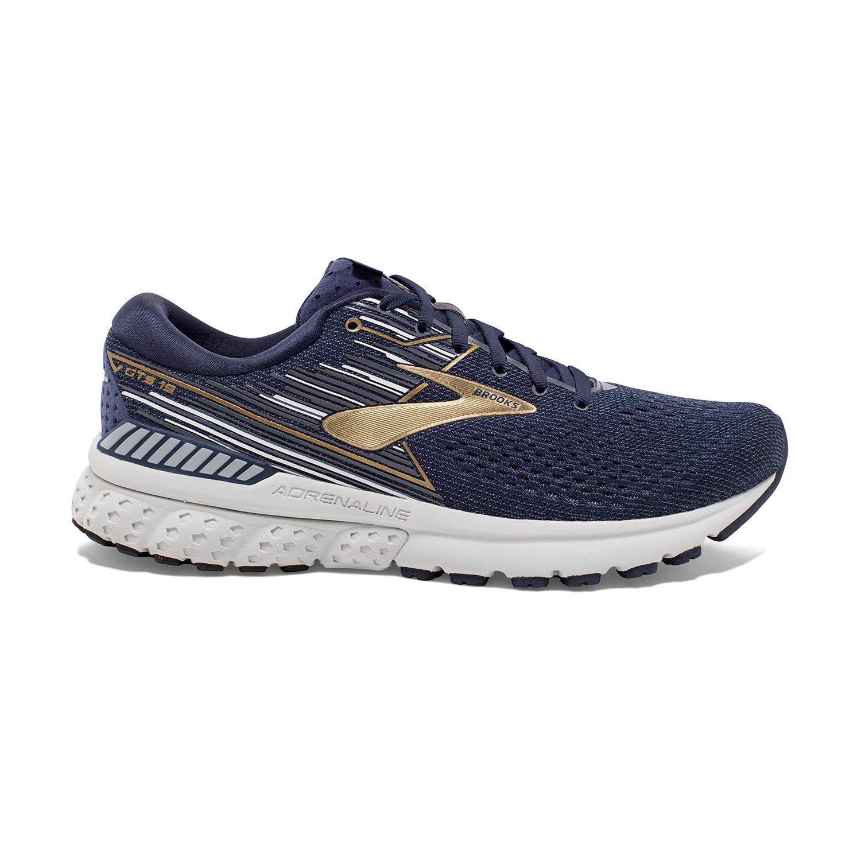 Navy gold Grey Brooks Men's Adrenaline GTS 19 B Width Running shoes
