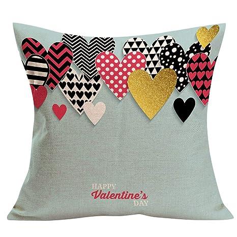 Yvelands San Valentín Almohada romántico Caliente Funda de ...