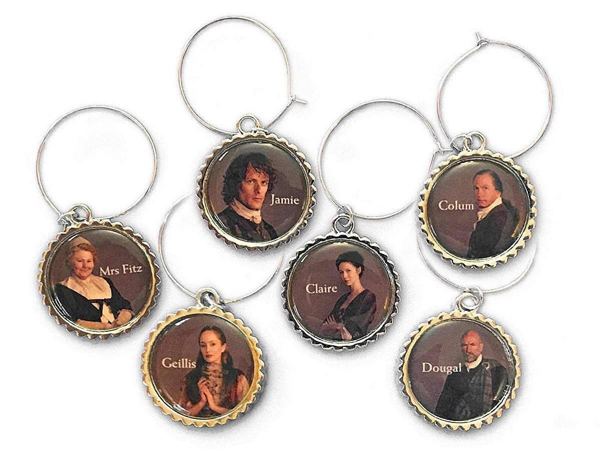 Outlander Character Wine Charms by Toy Vault by Toy Vault