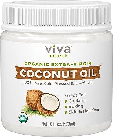 Aceite De Coco Para La Piel Reseca Y Cara - Organico Extra Virgen Sin Refinar -