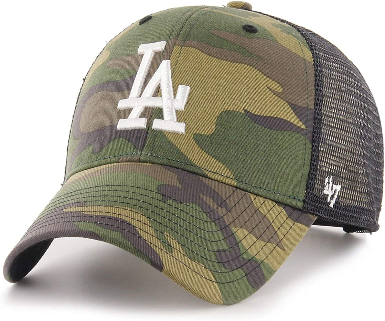 BRANSON Los Angeles Dodgers wood camo 47 Brand Trucker Cap