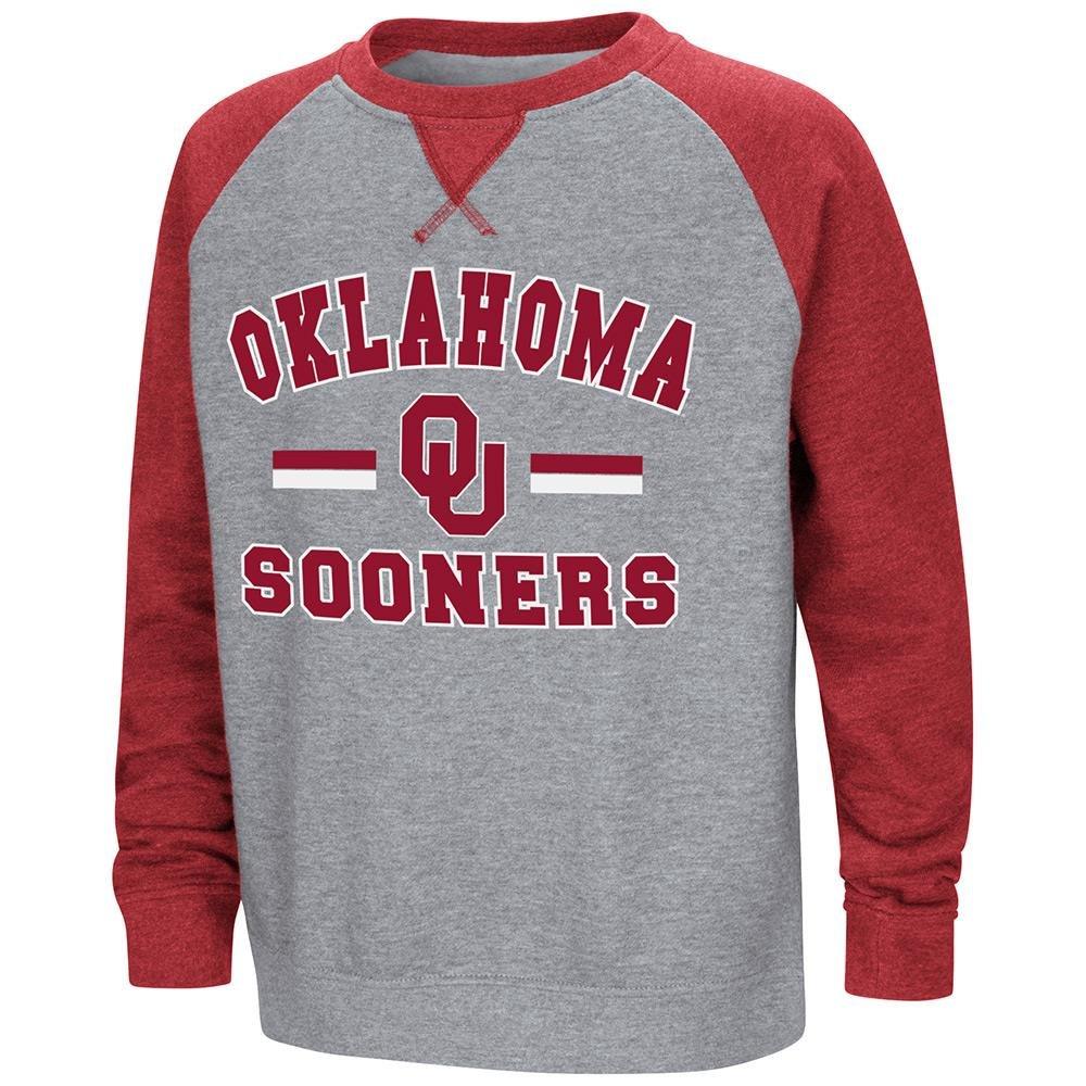 Colosseum Youth Oklahoma Sooners フリース クルーネック スウェットシャツ B07DWP1DJT  Large (16/18)