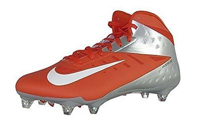 Nike Vapor Talon ELite 3/4 Football Cleats - Orange/Silver/White (