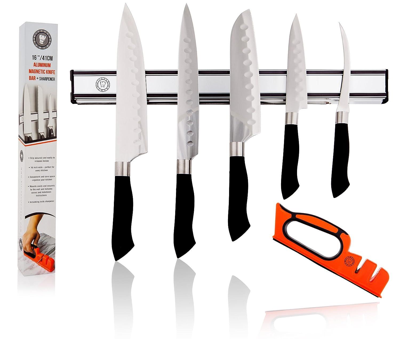 kitchendemand soporte magnético para cuchillos (tira de Bar ...