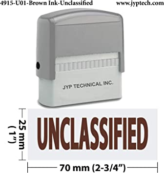 JYP 4911R-04  RED INK Final Sale No Refunds Self Inking Rubber Stamp