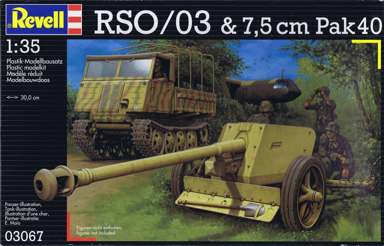 Revell 03067 - Maqueta del RSO/03 y del caños de ataque alemán 7,5 cm Pak40 (escala 1:35)