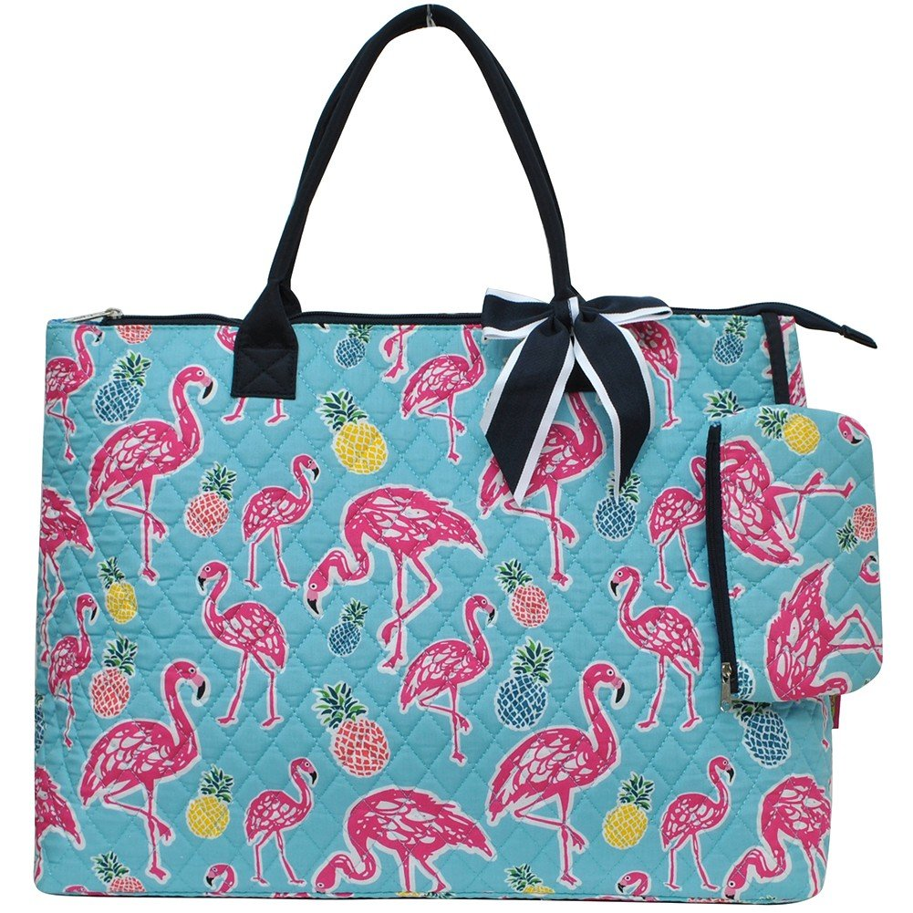 Animal Themed Prints NGIL Quilted Overnight Tote Bag