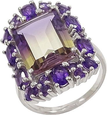 Banithani Citrine 925 Silver Rings For Women Gemstone Finger Ring Jewelry
