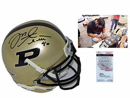 Image Unavailable. Image not available for. Color  Mike Alstott SIGNED  Purdue Boilermakers Mini Helmet - Witness w PHOTO - JSA Certified - 610944bd4