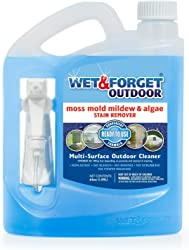 Wet & Forget No Scrub Outdoor Cleaner for Easy Removal of Mold, Mildew and Algae Stains