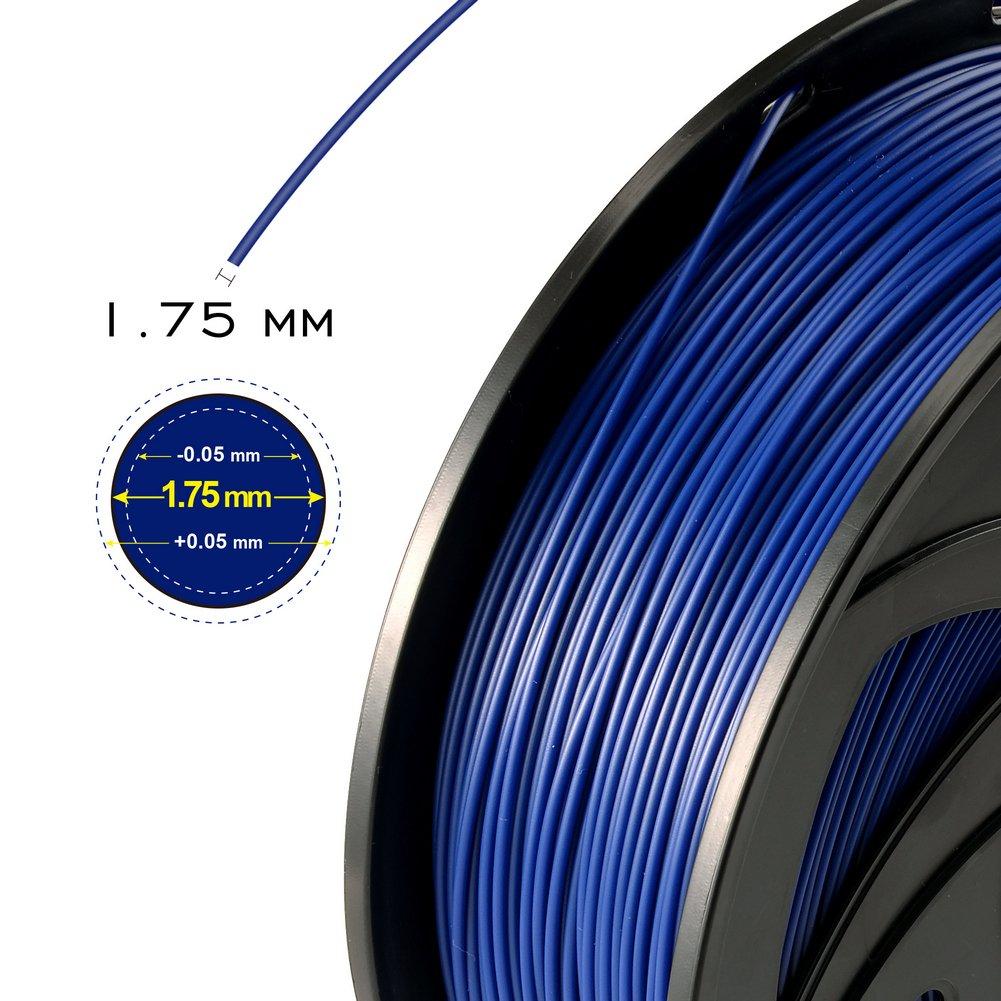 oaktech rf-03 azul Pla filamento de impresora 3d, 1,75 mm, +/-0,05 ...